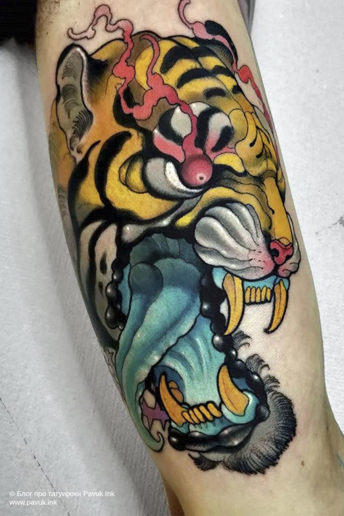 тату тигра 01