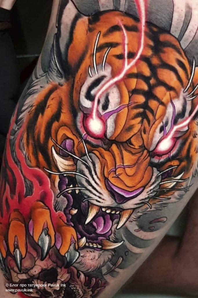 тату тигра 03