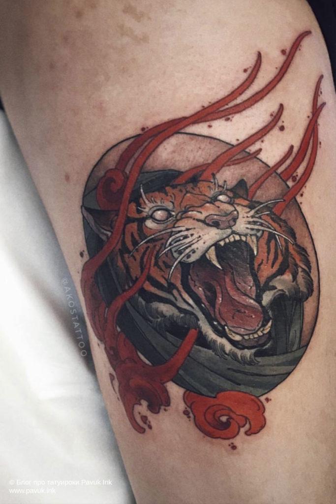 тату тигра 04