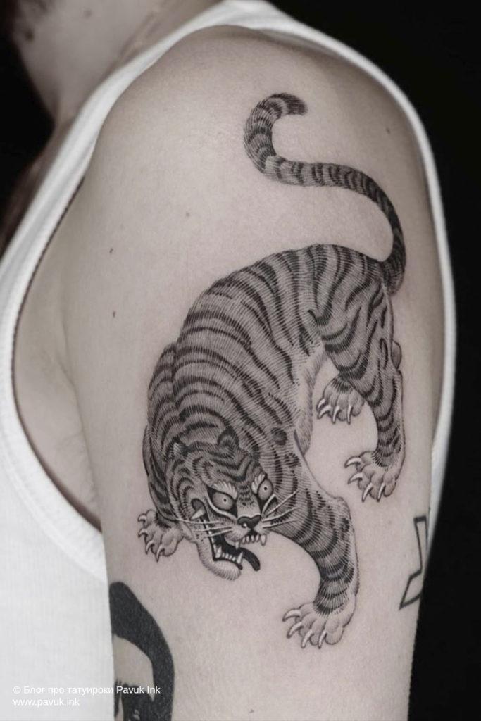 тату тигра 07