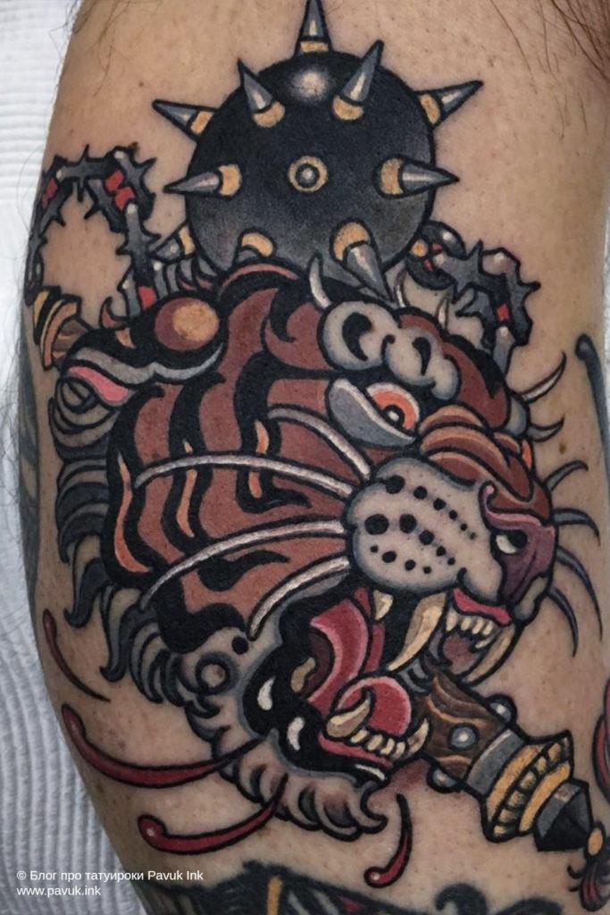 тату тигра 11
