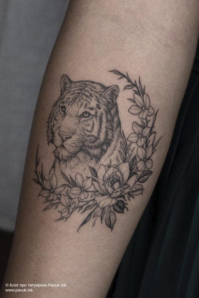 тату тигра 15