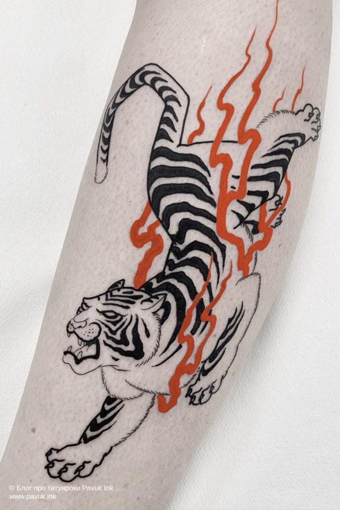тату тигра 16