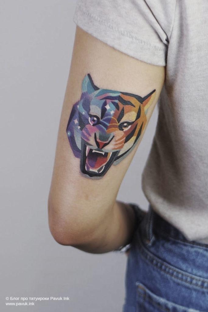 тату тигра 17