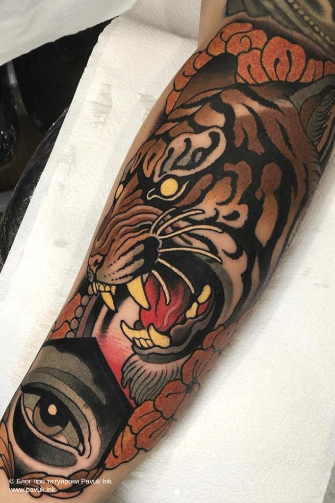 тату тигра 19