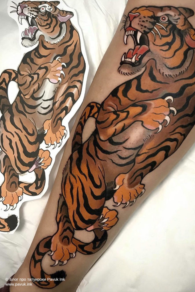 тату тигра 21