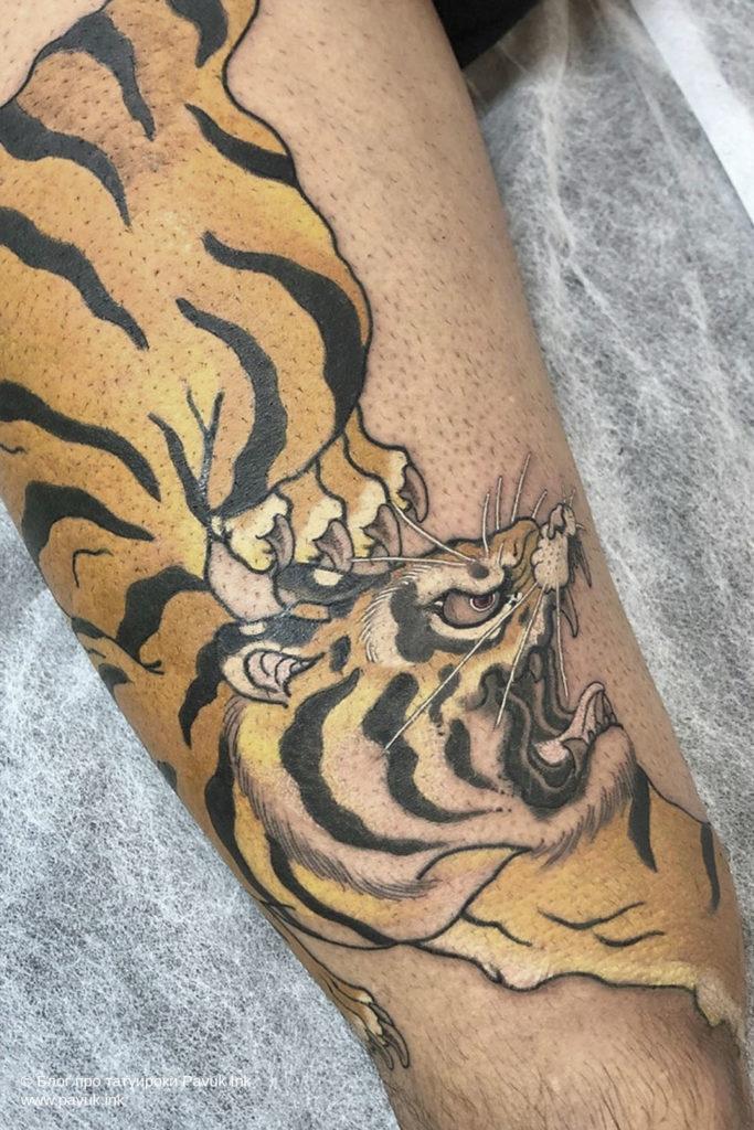 тату тигра 30