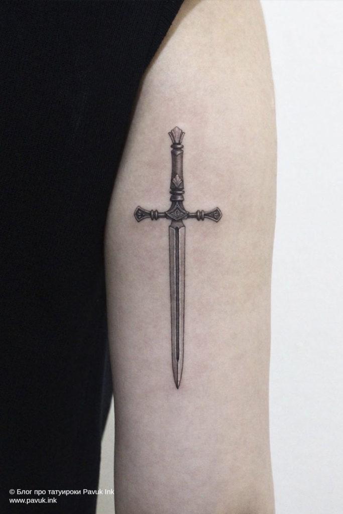 тату меч 15