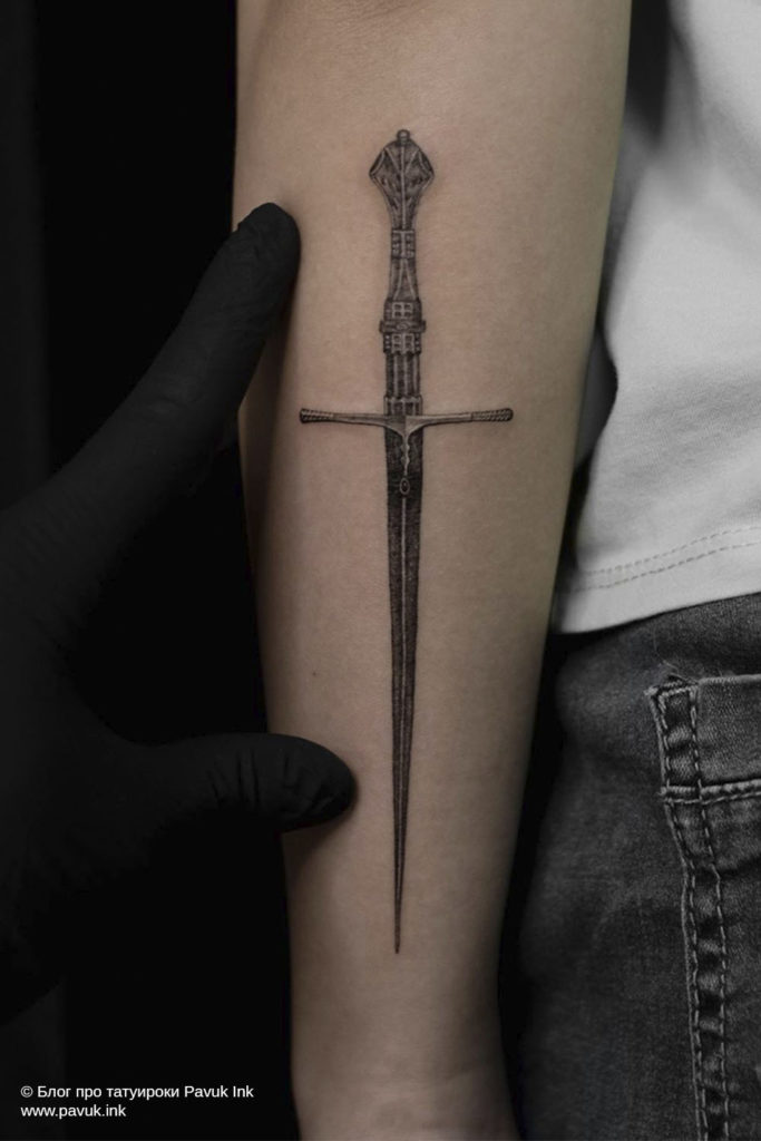 тату меч 21
