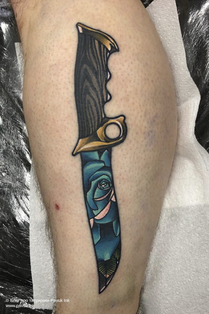 тату нож 18