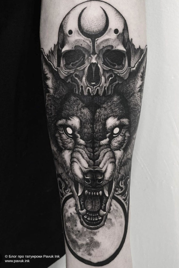тату волк 39