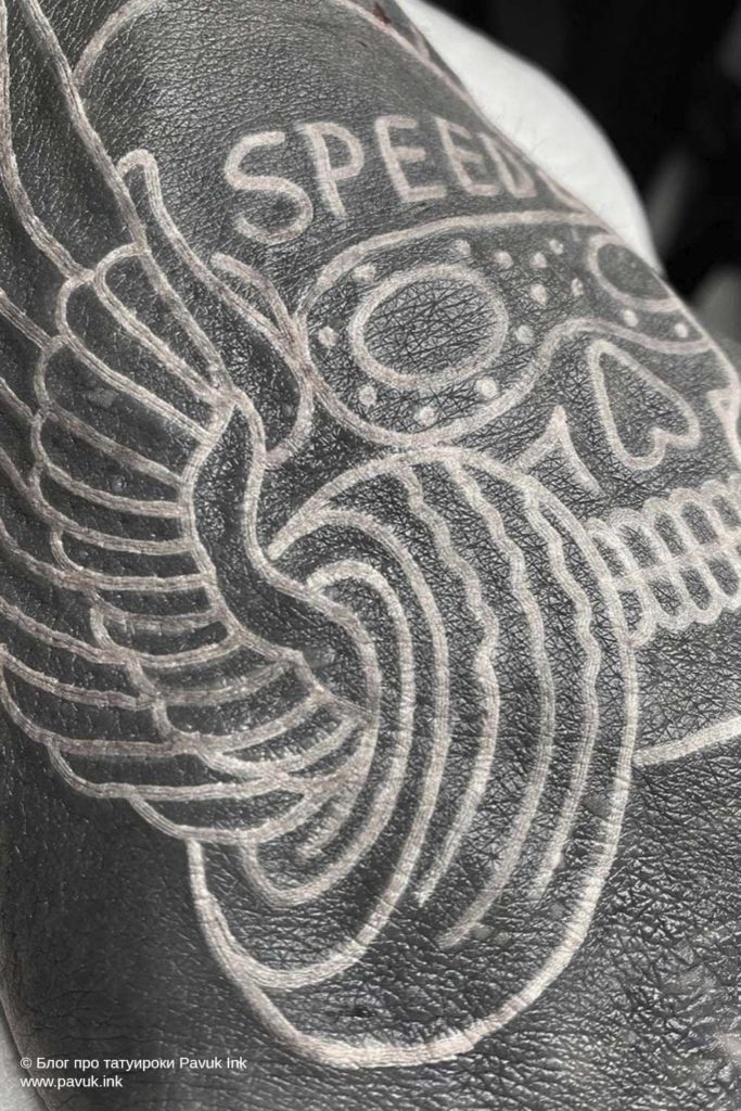 белые тату 03