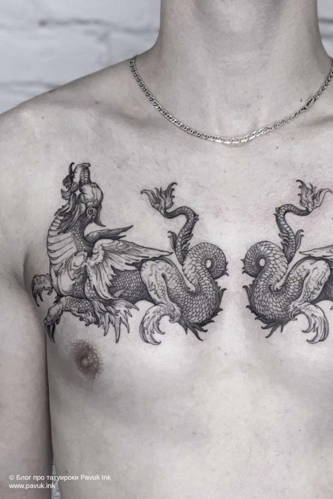 тату на груди 03