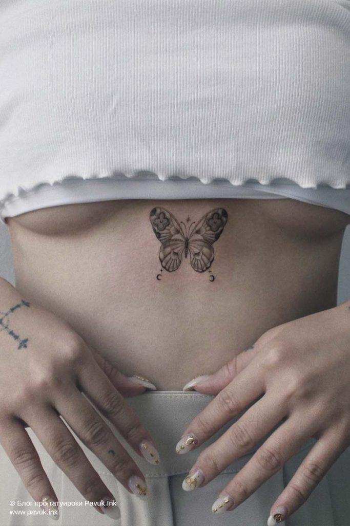 тату бабочка 05