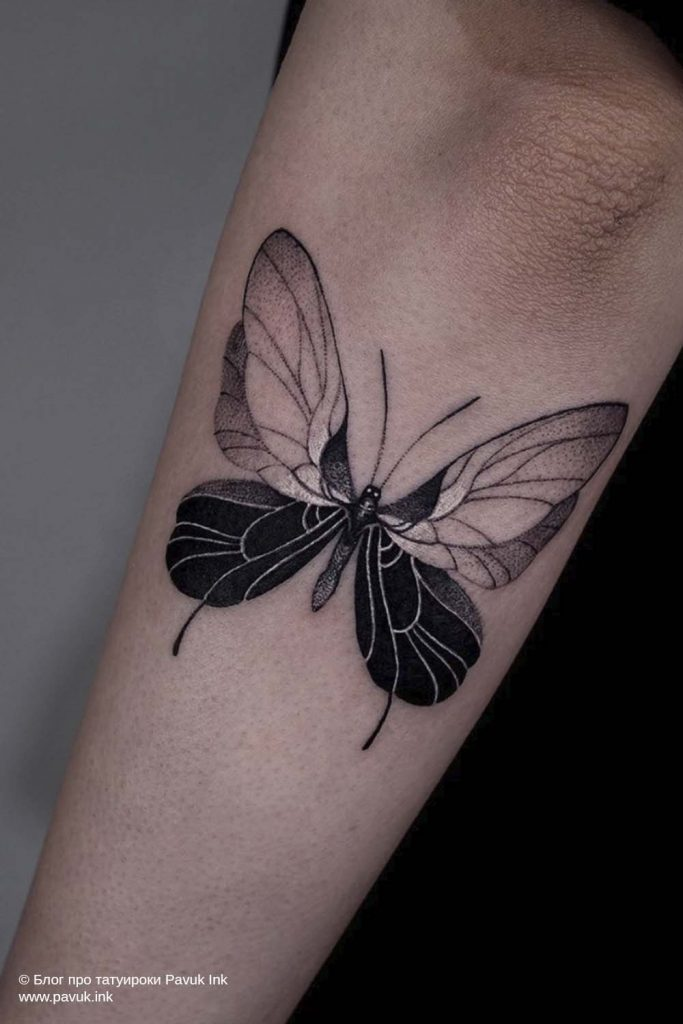 тату бабочка 06