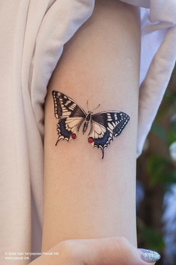 тату бабочка 12