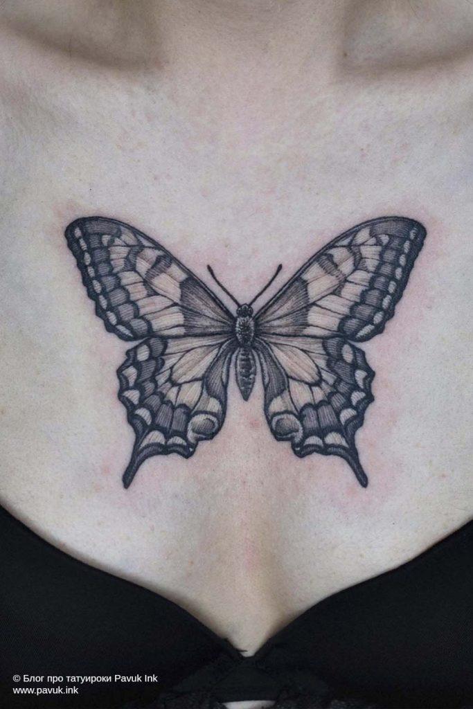 тату бабочка 17