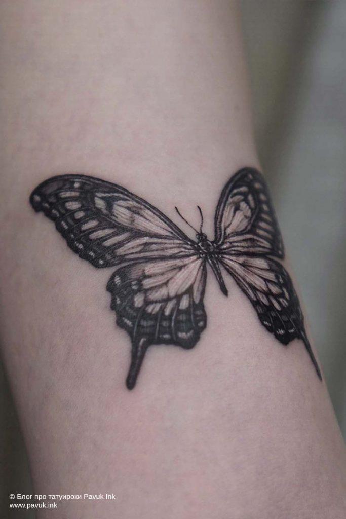 тату бабочка 18