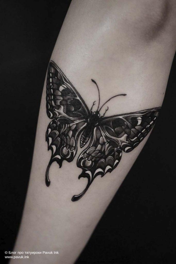 тату бабочка 19