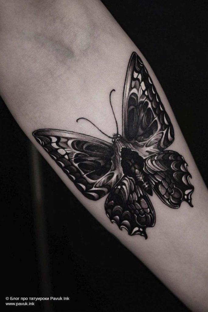 тату бабочка 20