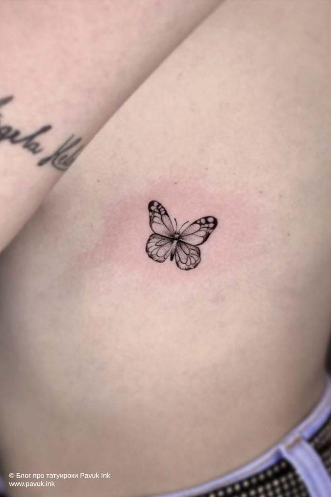 тату бабочка 23