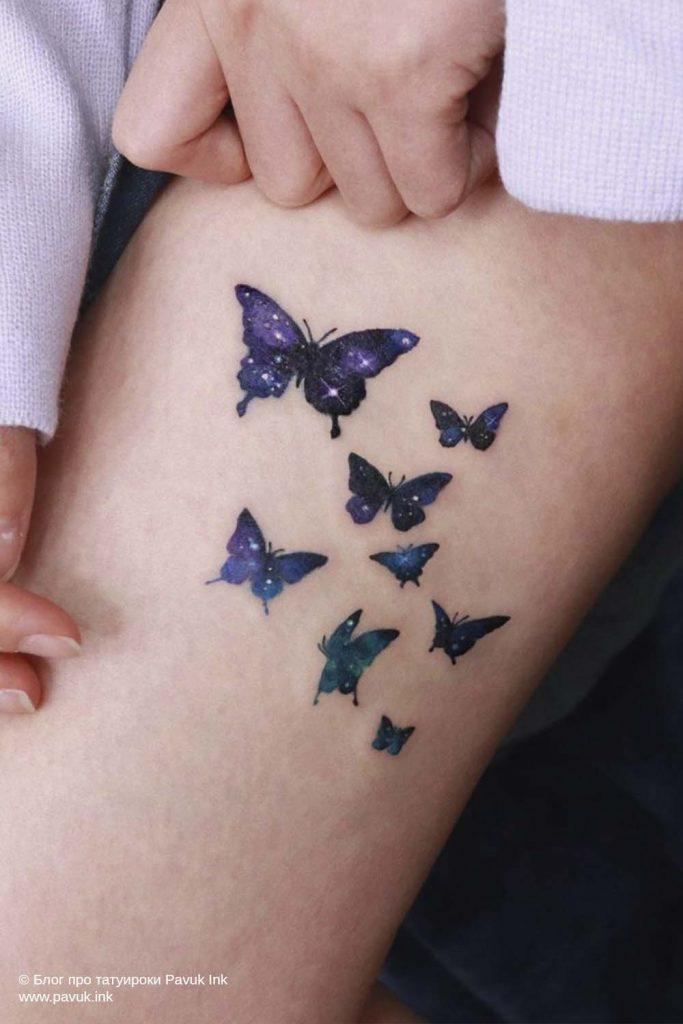 тату бабочка 25