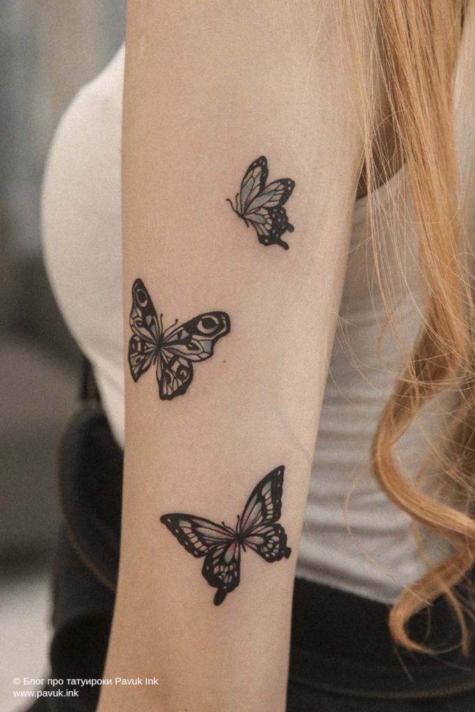 тату бабочка 26