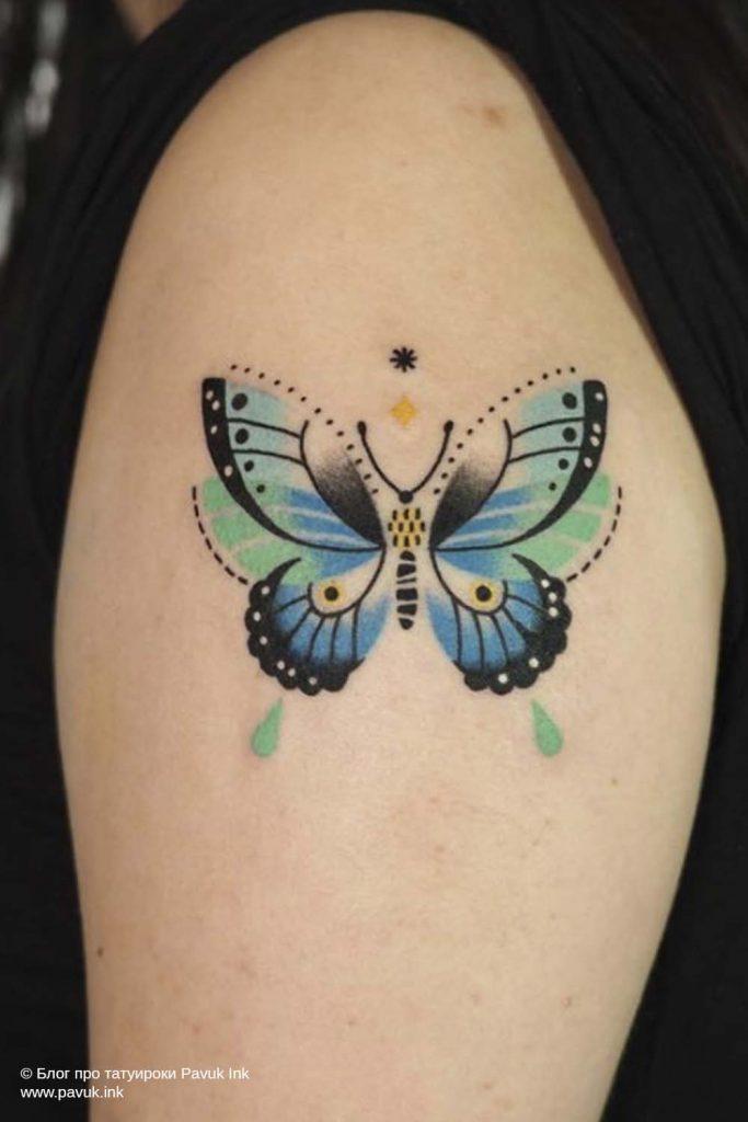 тату бабочка 28