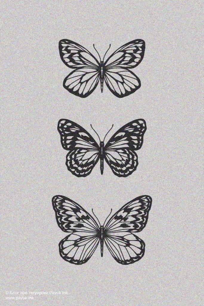 тату бабочка 29