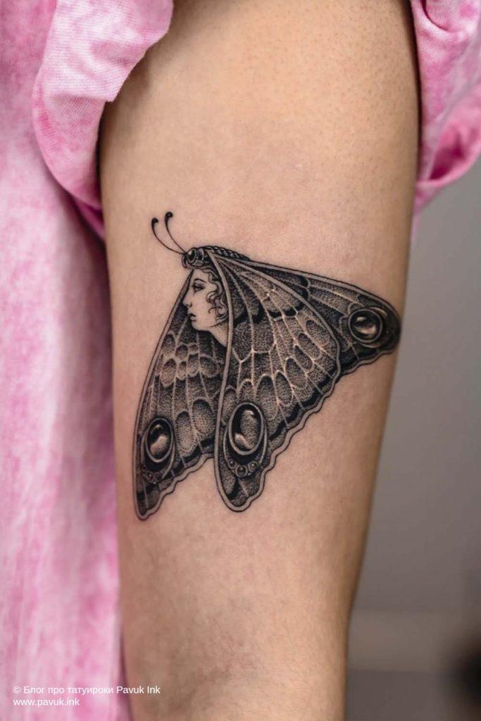 тату бабочка 31