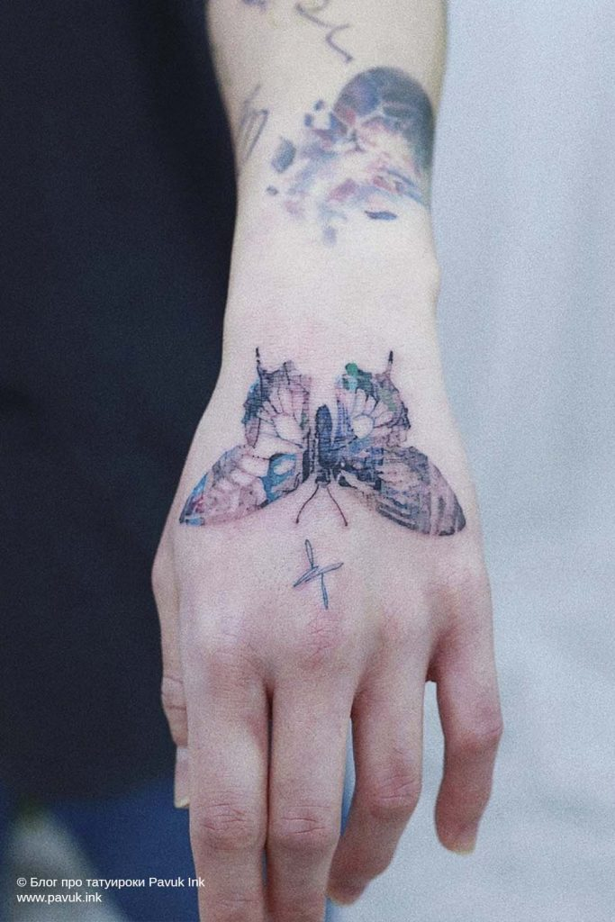 тату бабочка 36