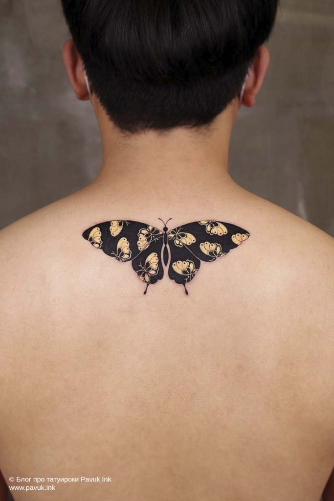 тату бабочка 46